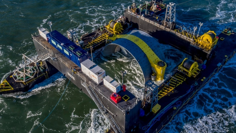EDM cape sharp tidal turbine